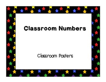 Dual Language Number (1-20) Posters Stars Bright Colors