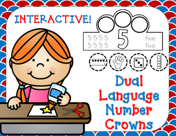 Dual Language Number Crowns:  Interactive English and Span