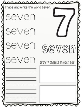 Dual Language Numbers and Colors Worksheets:  Both English and Spanish