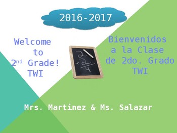 Dual Language Open House Teacher Introduction