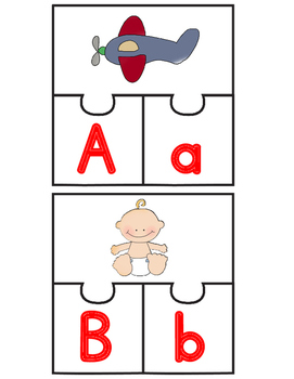 Dual Language Puzzles:  Both English and Spanish Initial Sound Puzzles