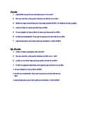 Dual Language - Reader's Response Questions SPANISH