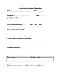Dual Language - Reading Conference Sheet SPANISH