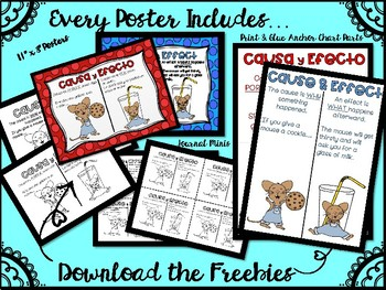 Dual Language Reading Posters and Anchor Chart Parts