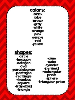 Dual Language Red Chevron Background shapes and colors posters