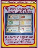 Dual Language Room Label Cards