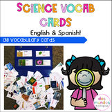 Dual Language Science Vocabulary Cards-Words for the whole year!