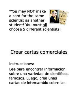 Dual Language - Scientist Trading Cards *Bilingual Document*