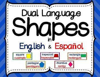 Dual Language Shapes in English & Spanish
