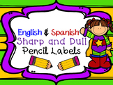 Dual Language Sharp & Dull Pencil Labels