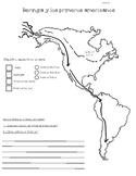 Dual Language Social Studies Resources-Mapa Beringia y los indígenas de América