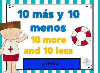 Dual Language Spanish 10 more and 10 less