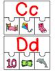 Dual Language:  Spanish Beginning Sound 4 Piece Puzzles