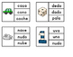 Dual Language Spanish Clip The Word Cards