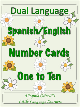 Spanish Dual Language Numbers 1-10 for ESL Resources and Activities