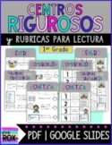 Dual Language Spanish Rigorous Centers & Rubrics {First Grade}