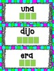 Dual Language Spanish Sight Words--Letter Tile Word Work