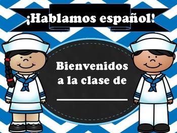 Dual Language Spanish Sign