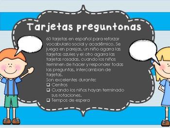Dual Language Spanish: Tarjetas preguntonas