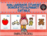 Dual Language Student Generated Alphabet