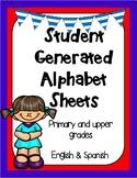 Dual Language Student Generated Alphabet Templates- English and Spanish