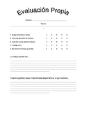 Dual Language - Student Self-Evaluation Project Rubric SPANISH