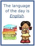 Dual Language Student Vocabulary alphabet English & Spanis
