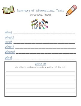 Dual Language - Summary Structural Frames ENGLISH [Blue]