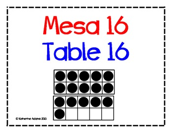 Dual Language Table Number Signs