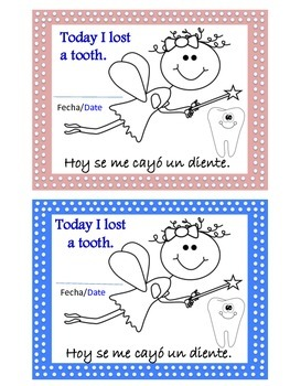 Dual Language Tooth Fairy Classroom Kit