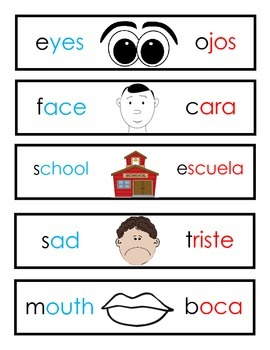 Dual Language All About Me My School Cards