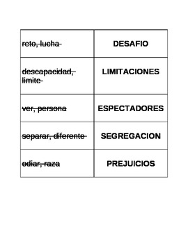 Dual Language - Vocabulary Game TABOO - SPANISH