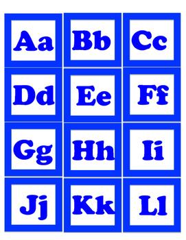 Dual Language Word Wall Alphabet English and Spanish -Framed!