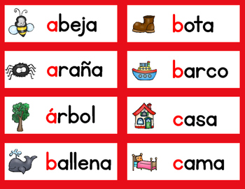 Dual Language Word Wall BOTH ENGLISH AND SPANISH Vocabulary Set 3