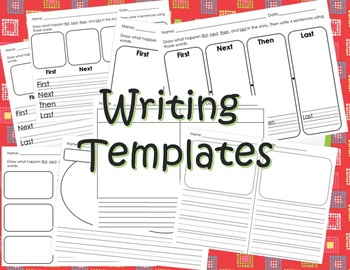 Dual Language Writing Templates - English & Spanish