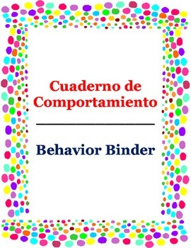 Dual Language behavior binder/cuaderno de comportamiento