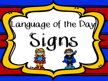 Dual Language of the Day Signs - LOD