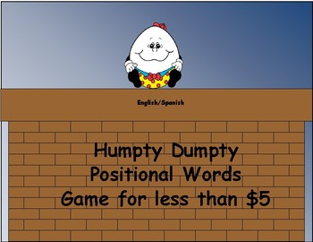 Dual Language Humpty Dumpty Positional Words for less than $5