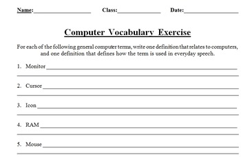 Dual Meaning Computer Vocabulary Terms