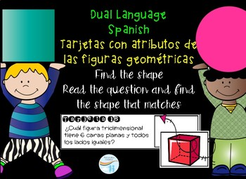 Dual language Math Task Cards - Spanish