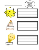 Dual language Science worksheet in Spanish: Sources of light