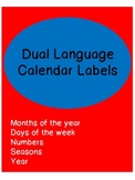Dual language calendar labels