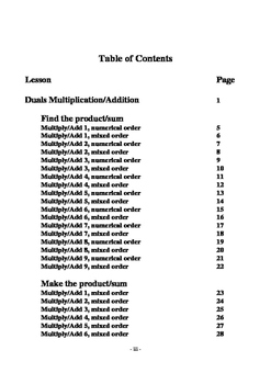 Duals: Multiplication with Addition and Multiplication with Subtraction