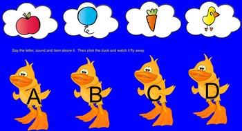 Duck Alphabet Smartboard