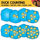 Duck Counting Scene Clipart