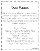Duck Craft: Puppet (Farm Animal Research, Spring)