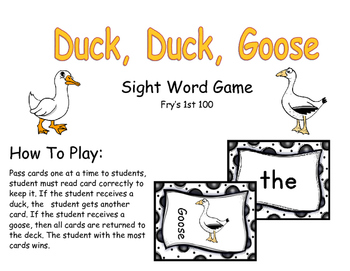 Duck Duck Goose: A Sight Word Game