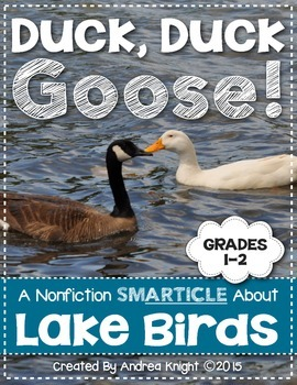 Duck, Duck, Goose!  A Nonfiction SMARTICLE About Lake Bird
