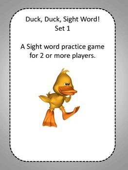Duck, Duck, Sight Word! Set 1