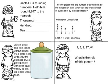 Duck Dynasty 3rd Grade Math End of Year Review